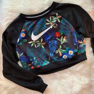 Nike Cropped Ultra Femme Crew Sweatshirt sz M